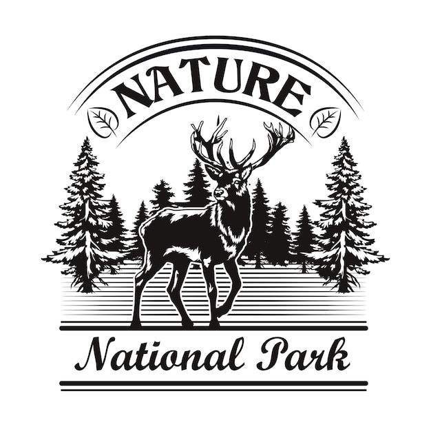 Natur- und parkemblem