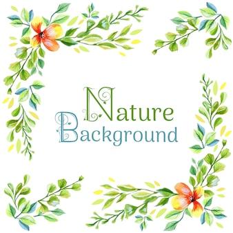 Natur verlässt hintergrund