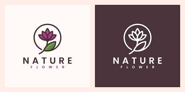Naturblume mit schönem farblogo-design