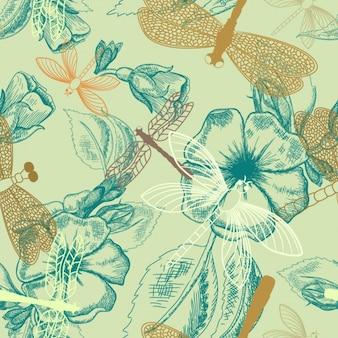Nature design-muster Kostenlosen Vektoren