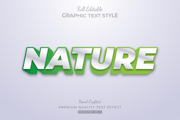 Nature green clean bearbeitbarer textstil-effekt