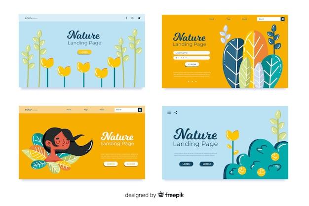 Nature landing page-auflistung