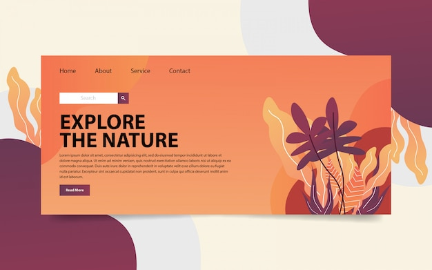 Nature landing website