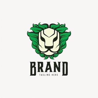 Nature lion logo design vorlage