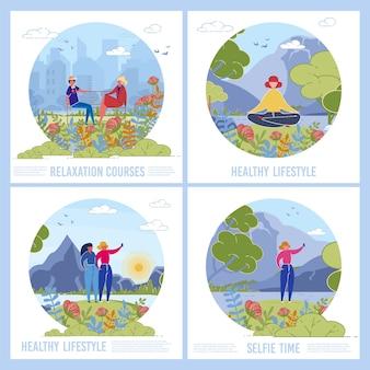Naturgenuss social media banner set