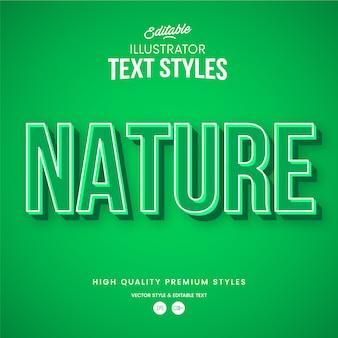 Naturgrüner moderner abstrakter texteffekt bearbeitbarer grafikstil