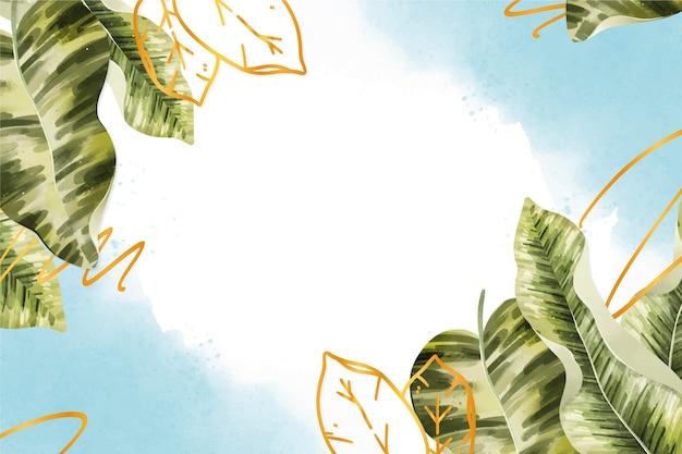 Naturhintergrund mit goldener folie Kostenlosen Vektoren