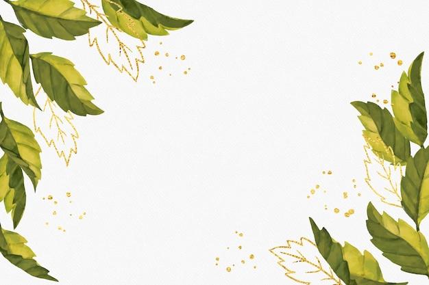 Naturhintergrund mit goldener folie