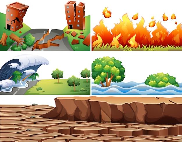 Naturkatastrophen-szenen