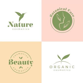 Naturkosmetik-logo-sammlung