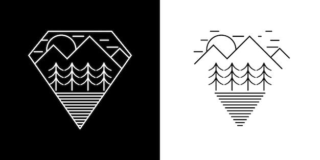 Naturlandschaft vintage-logo
