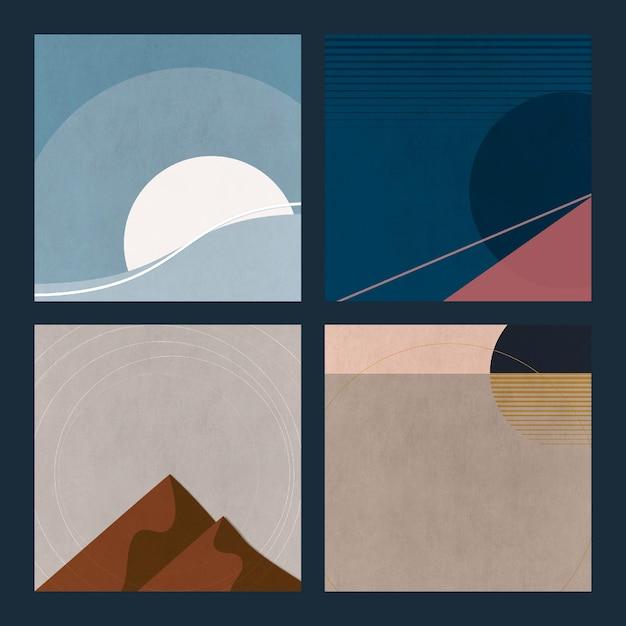 Naturlandschaften minimalistische ästhetik mit matten farben