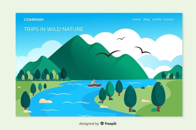 Naturlandungsseite mit landschaft