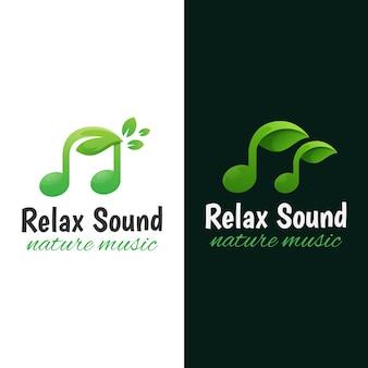 Naturmusik-logo. entspannungs-sound-logo-vorlage