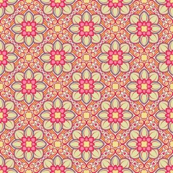 Naturmuster mit rosa blumen