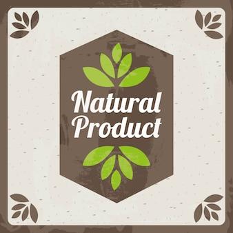 Naturproduktdesign über beige hintergrundvektorillustration
