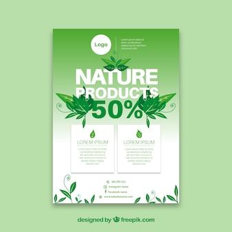 Naturprodukte flyer vorlage