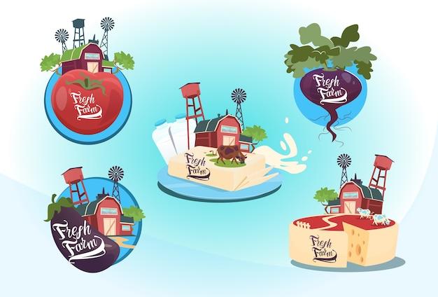 Naturprodukte legen eco fresh farm logo