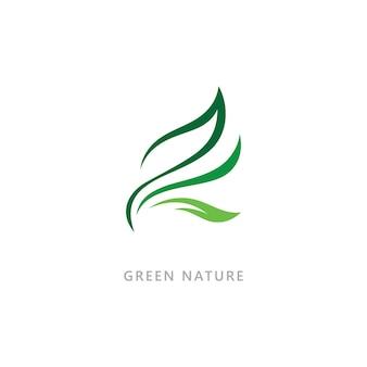 Natursymbol organisches logokonzept