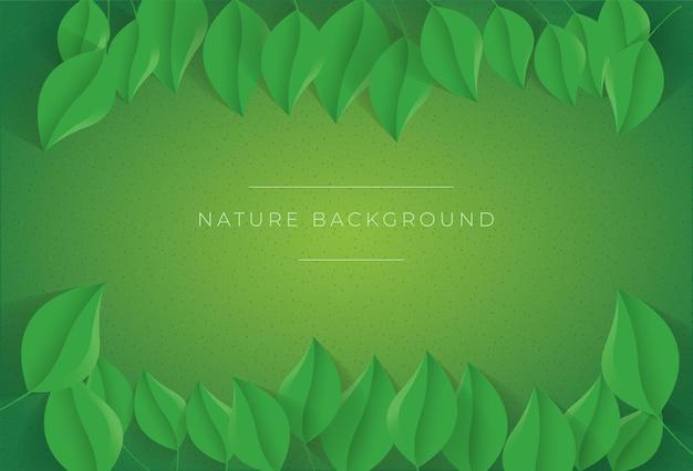 Naturvektorblatt mit blitz und schatten