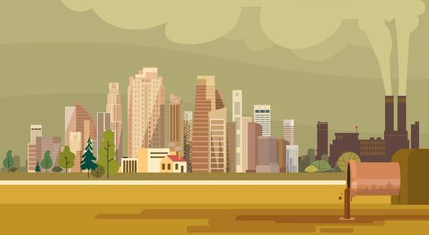 Naturverschmutzungs-stadt-anlage