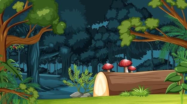 Naturwaldlandschaftshintergrund