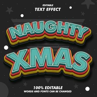 Naughty xmas text effekte
