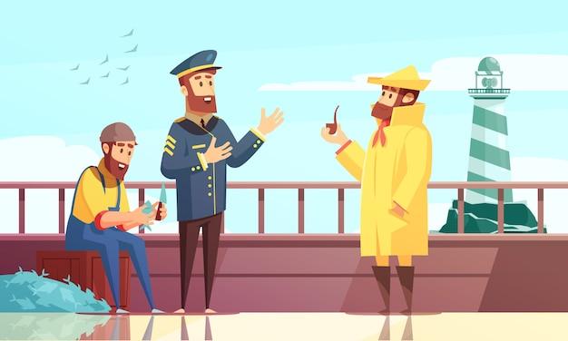 Nautical cartoon hintergrund