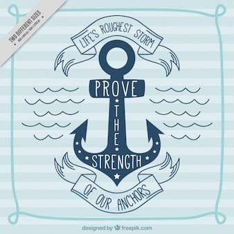 Nautical hintergrund mit motivierend zitat