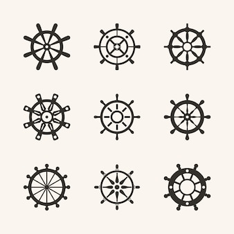 Nautical schiff rad vector set