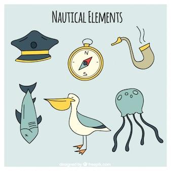 Nautical zeichnungen packen