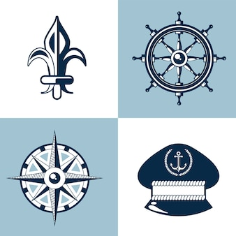Nautische set-symbole