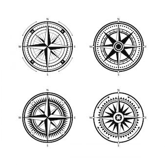 Nautischer kompass vektor