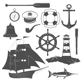 Nautisches icon-set