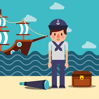 Nautisches maritimes design