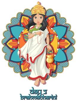 Navarati-festivalplakatdesign mit göttin