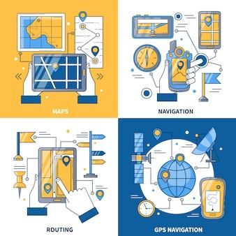 Navigations-design-konzept