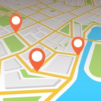 Navigations-gps-karte