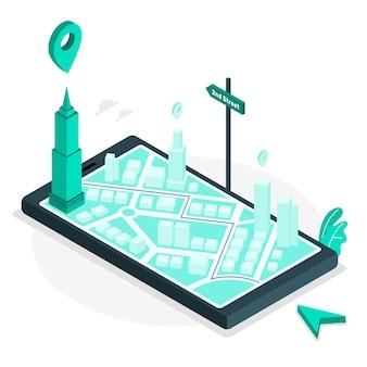 Navigationskonzept illustration
