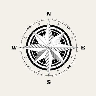 Navigationsskala für kompassrose (windrose)