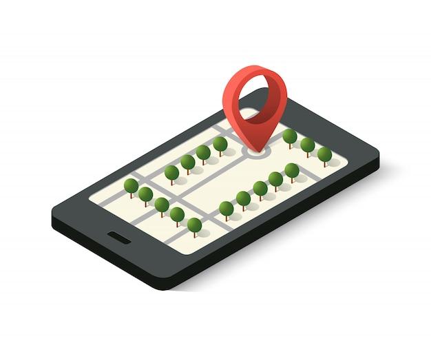 Navigationszeichen und pin