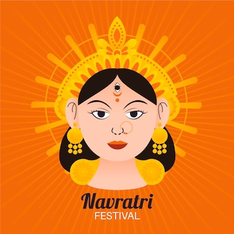 Navratri festival illustration