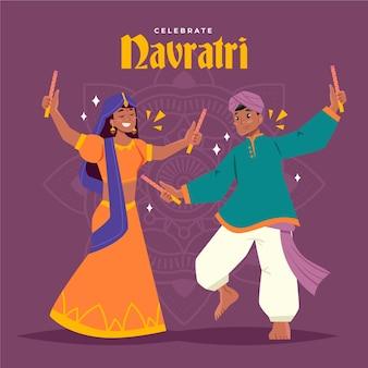 Navratri festival tänzer