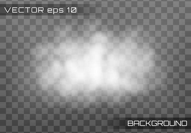 Nebel oder rauch, realistische wolke, transparenter rauch.