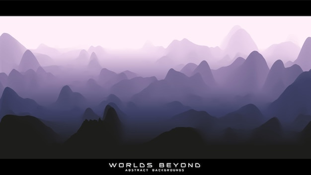 Nebel über bergen