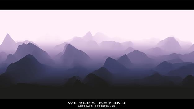 Nebel über berghintergrund