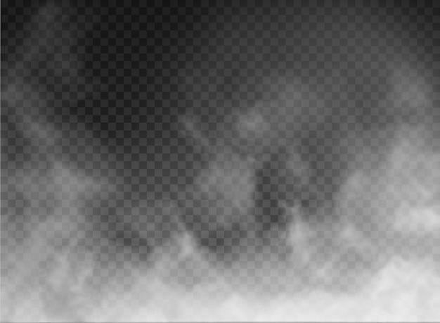Nebel und rauch isoliert auf transparentem hintergrund