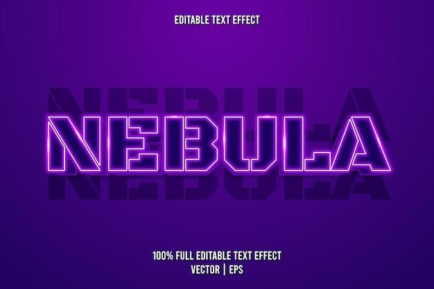 Nebula editierbarer texteffekt im neonstil