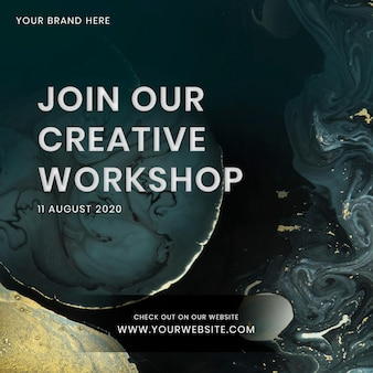 Nehmen sie an unserer social-media-vorlage für kreative workshops teil