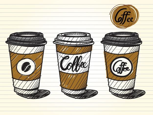 Nehmen sie eine kaffeetasse heraus